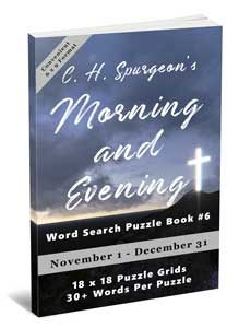C.H. Spurgeon's Morning and Evening Word Search Puzzle Book #6 (6×9): November 1st to December 31st